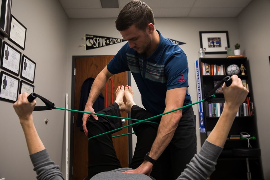 stretching with chiropractor