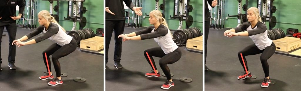 ankle dorsiflexion during the squat